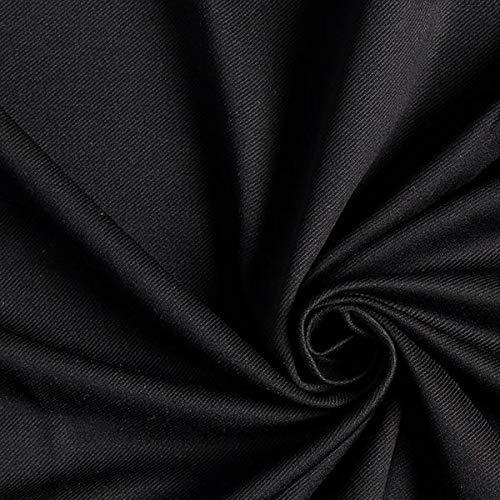 Hosenstretch Twill Köper – schwarz — Meterware ab 0,5m — zum Nähen von Hosen und Röcke