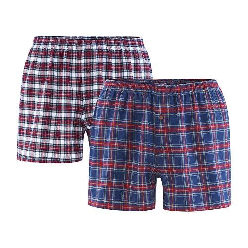 Living Crafts Boxer-Shorts, 2er-Pack XL, Tartan