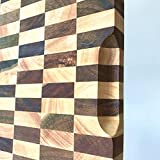 Heqianqian Tabla de cortar de madera de acacia tabla de cortar rectángulo extremo grano bloque de carnicero   Bloques de cortar para carne, frutas verduras, tabla de cortar carne, cocina