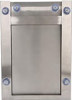 コーヒーノックボックス、スプラッシュ防止コーヒー挽いたボックス、ミルクティーショップ用に取り外し可能な滑り止めフットマットコーヒーアクセサリーコーヒー挽いたバケツコーヒーショップ(Silver)