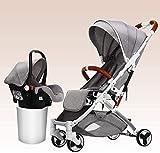 Cochecito de bebé portátil Cochecito de carruaje de bebé Cochecito de bebé Reversible Todos Terrain -infant Niño pequeño Cochecito de bebé Carro - Cochecitos de cochecitos compactos, carro plegable de