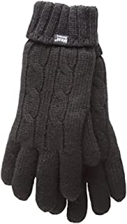 Women's Thermal Heat Weaver Cable Knit 2.3 Tog Gloves - S/m (Small/Medium, Black)