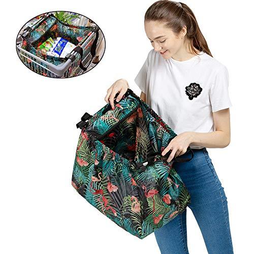 HSJCZMD Trolley Einkaufstasche für Supermarkt, Multifunktionsnahrungsmittel Sorting Non Woven Einkaufstasche, Isolierung Taschen, Kühltaschen, waschbar Einkaufswagen Taschen,A
