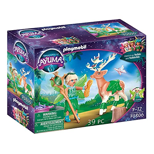 PLAYMOBIL Adventures of Ayuma 70806 Forest Fairy con Animal del Alma, A Partir...