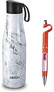 Milton Mirage 1000 Thermosteel Hot & Cold Water Bottle,Capacity 890 ml (White)