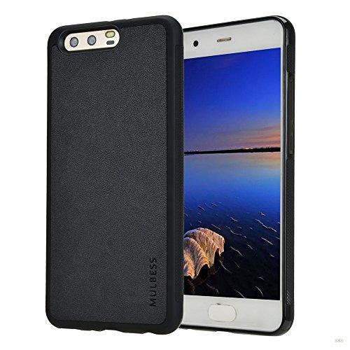 Mulbess Handyhülle für Huawei P10 Plus Hülle, Shockproof Anti-Rutsch, Anti-Scratch, Soft TPU Silikon Hülle Schutzhülle für Huawei P10 Plus Tasche, Schwarz