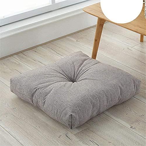 Cojines de silla para silla de comedor 100% algodón gris silla de comedor grueso cojines sin deslizamiento de color sólido almohadilla de asiento transpirable suave asiento cojines cuadrados tatami es