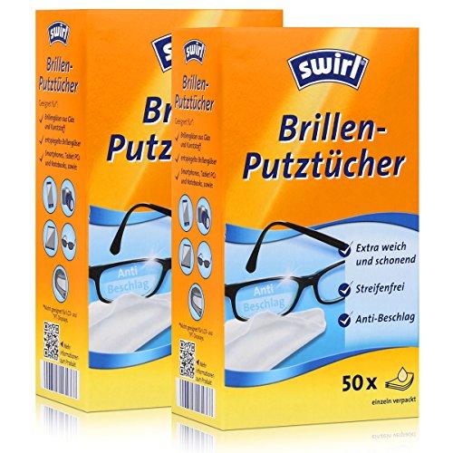 2x Swirl Brillen Putztücher 50 stk. Tücher