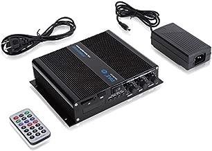 Pyle 6-Channel Audio Marine Amplifier - Compact Power 600 Watt RMS 4 OHM Full Range Stereo with Volume Bass Treble Rotary Control - Wireless Bluetooth Receiver Speaker & LCD Digital Screen PFMRA640BB