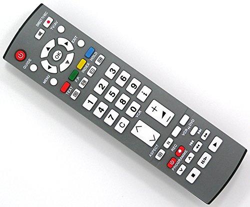 Ersatz Fernbedienung for Panasonic TV TX-32LE60FM TX-32LE60P TX-32LE60PM TX-32LE7F TX-32LE7F/S TX-32LE7FA