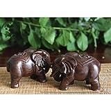 Homyl Asiatische Glückliche Glückselefanten Holzelefant Elefant Figur Holzfigur Tischdeko Geschenk - 4