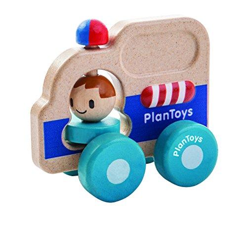 Plantoys- Rescue Car, PT5686, Wood