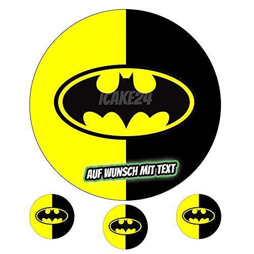 Tortenaufleger Geburtstag Tortenbild Zuckerbild Oblate Motiv: Batman (Zuckerpapier)