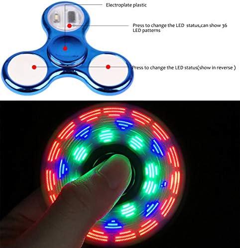 Blue glow in the dark fidget spinner _image1