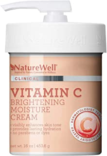 NatureWell Vitamin C Brightening Moisture Cream for Face & Body, 16 oz | Clinical |..