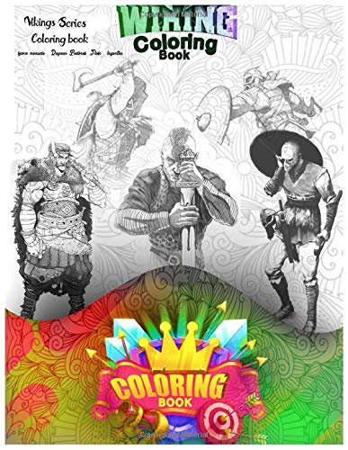 Vikings Series Coloring book: funny gifts for adults and Kids (5.8x11) inshes characters on the book ( björn ironside , Ragnar Lodbrok ,Floki , lagertha , Rollo , )