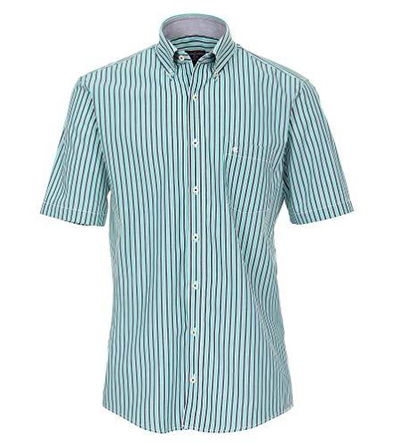 Casa Moda - Comfort Fit - Herren Freizeit 1/2-Arm-Hemd Button - Down - Kragen (983078700A), Farbe:Grün (300), Größe:XL