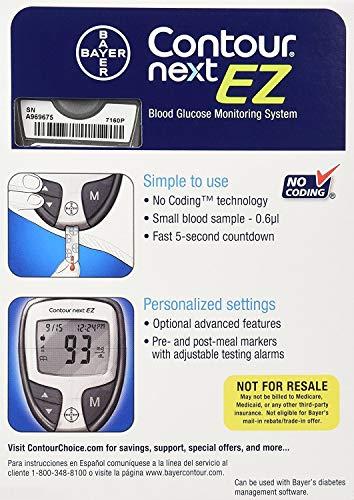 buy Bayer Contour Next EZ Glucose Meter Kit Blood Glucose Monitors