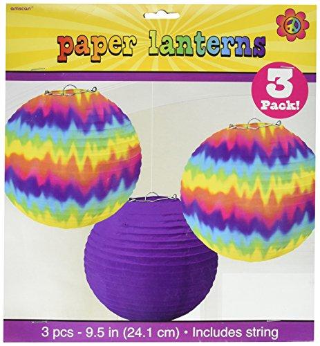 Amscan 240102 jaren '60 Feeling Groovy papier lantaarns