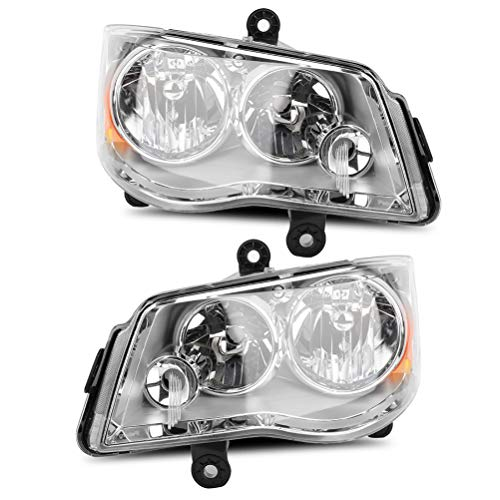 LBRST Headlight Assembly for 2011-2017 Dodge Grand Caravan 08-16 for Chrysler Town & Country Headlamp Replacement with Daytime Running Lamps (Driver and Passenger Side)