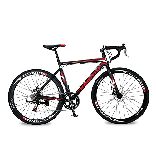 Cyrusher XC760 Races Road Bike 52cm Aluminium Frame 14 Speed 700C Shimano Shifting System Disc Brakes