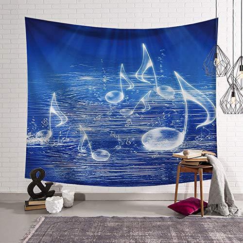 Mandala Tapestry Wall Hanging Sun Moon Hippie Sprei voor Art Bedroom Living Room Dorm Home Decor, Blue Note