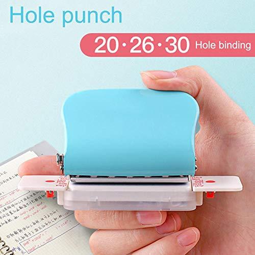 LWLJCFFF DIY Perforadora Perforadora de Hojas Sueltas Perforadora de Hojas Sueltas A4 (30 Agujeros) B5 (26 Agujeros) A5 (20 Agujeros Perforadora para Oficina, 1 Pieza aleatoria