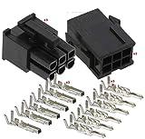 Molex 6-Pin Black Connector Pitch 4.20mm.0165' w/18-24 AWG Pin Mini-Fit Jr (3 Match Set)
