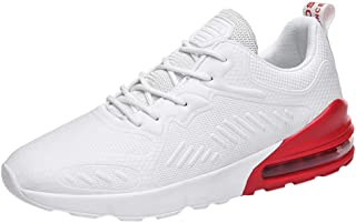 Men Mesh Lace-Up Athletic Shoes Flat Running Non-Slip Light Sport Sneakers 2020