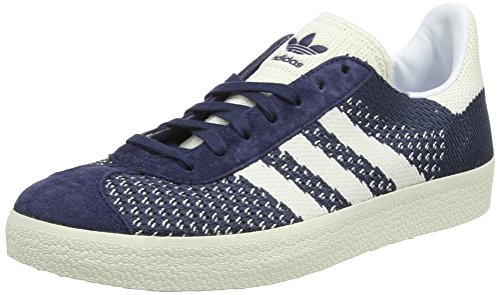 adidas Originals Herren Gazelle Primeknit Sneaker, Blau (Nemesis/Off White/Chalk White), 39 1/3 EU