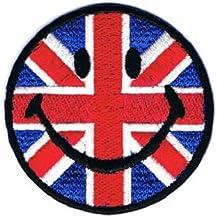 世界の国旗 / スマイル ・ アイロン ワッペン (イギリス(ユニオンジャック))