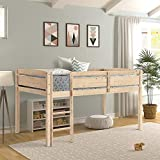 Xiao Tian Twin Wood Loft Bed Low Loft Beds for Kids with Ladder,Twin,Natural
