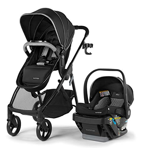 Summer Myria Modular Travel System with The Affirm 335 Rear-Facing Infant Car Seat, Onyx Blacky – Convenient Stroller and Car Seat with Advanced Safety Features