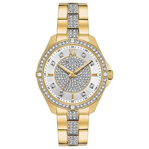 Bulova 98L228 Reloj de pulsera con cristales Swarovski para mujer