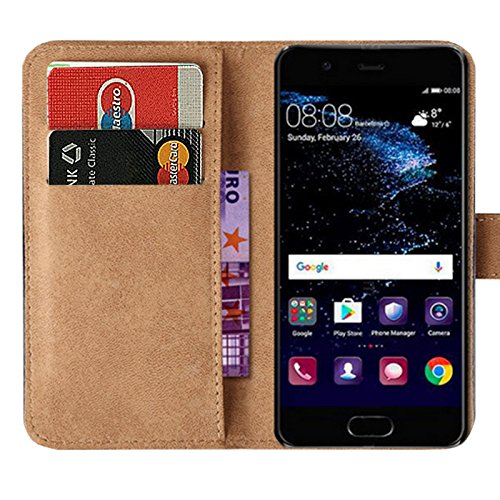 Eximmobile - Book Case Handyhülle für Huawei Ascend Y530 mit Kartenfächer in Schwarz | Schutzhülle aus Kunstleder | Handytasche als Flip Case Cover | Handy Tasche | Etui Hülle Kunstledertasche - 2
