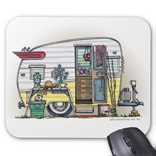 Accesorios de ordenador anti-fricción pulsera Shasta Camper Remolque Rv Mouse Pad 18X22