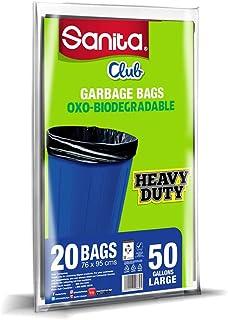 Trash Bags Sanita Club, 50 Gallons, 20 Bags, PG23BO5001R11