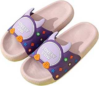 Zapatillas de casa de moda de dibujos animados bonitos para niño y niña,zapatillas al aire libre de estilo con punta abier...