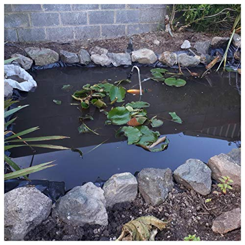 Teichfolien Zuschnitt PVC Premium Teichfolie Schwarz Stärke 0,3 mm Schwimmteich Folie Gartenteich Teichplane, für Teichbau, Garten- und Teichzubehör, mit Reparaturband(Color:0.3mm,Size:10x20ft/3x6m)