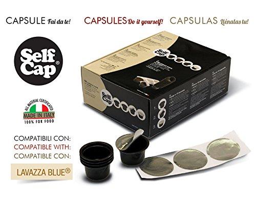 2 de 100 cápsulas Selfcap compatibles con Lavazza Blue para hacerte de ti recargables con tu café