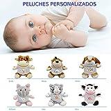 Peluche Animal Personalizable - Imprime el nombre , una foto , una fecha , una dedicatoria. Lo imprimimos sobre la Camiseta . Peluche 21 cm (Elefante)