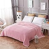 HDDFG Manta de colcha rosa 200x230cm Manta de franela súper suave de alta densidad para el sofá/cama/cuadros portátiles para automóvil (Color : Pink, Size : 150x200cm)