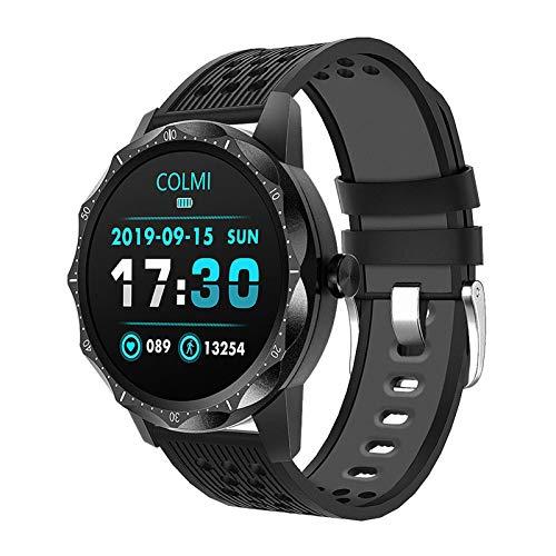 MEETGG Reloj inteligente con pantalla táctil a color, correa de silicona, compatible con monitoreo de presión arterial, salud y deportes, reloj inteligente IP67 resistente al agua