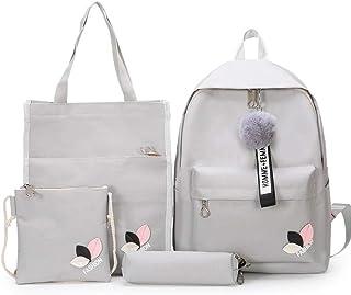 مجموعة حقائب ظهر للاطفال مزودة بسحاب، حقائب الظهر وايلد من القماش
