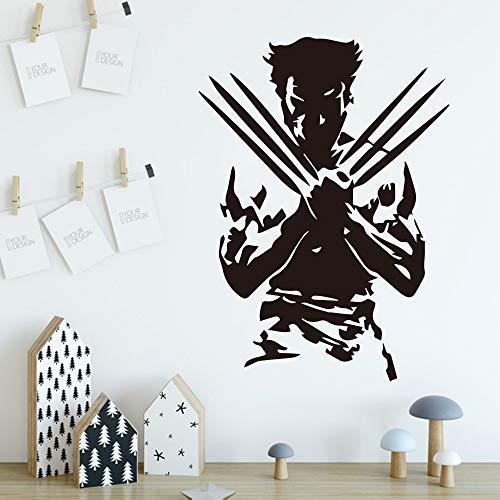 Tianpengyuanshuai Wolf Wandaufkleber Schlafzimmer Kinderzimmer dekorative Wandaufkleber abnehmbare Wanddekoration Aufkleber Wandbild 141X63cm