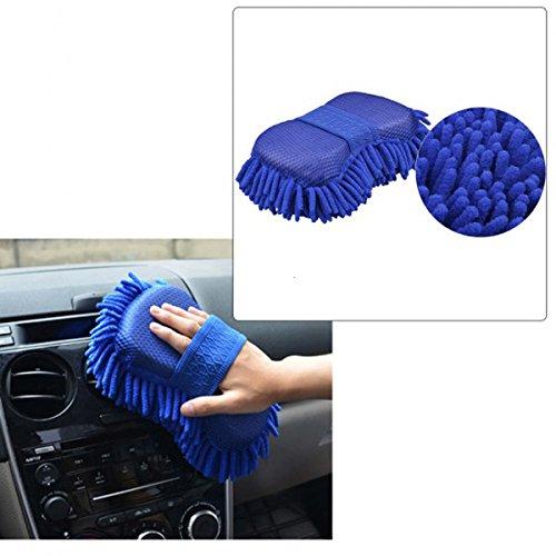 Hot Nieuwe Microvezel Chenille Anthozoan Auto Schoonmaken Sponge Handdoek Auto wassen Handschoenen Auto Washer benodigdheden