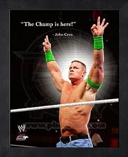 John Cena WWE Pro Quotes Framed 8x10 Photo