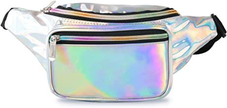 Men Women Ships 1 Day Rave Champage Rose Gold Holographic Holographic Fanny Pack FAST SHIPPING Music Festival