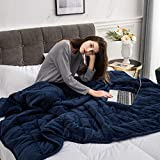 YZT QUEEN Manta ponderada-se USA para aliviar el estrés, la ansiedad, los síntomas de insomnio, Las Mantas de Tratamiento por Gravedad, el Material 100% algodón,Blue,60 * 80inches/15lbs