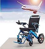 zdw Silla de ruedas Fold & Travel Ligero Control remoto plegable Silla de ruedas eléctrica Motorizada, Aviación Viajes (Rojo) - Silla de ruedas duradera